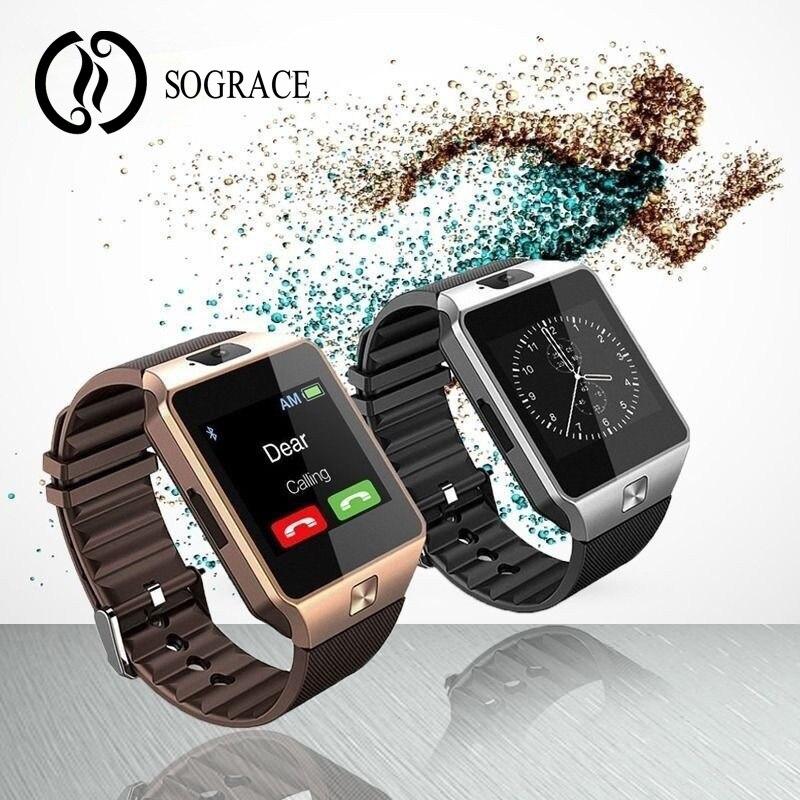 DZ09 reloj inteligente reloj con ranura para tarjeta Sim empuja mensaje conectividad Bluetooth teléfono Android mejor que Smartwatch reloj de los hombres