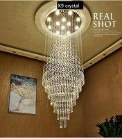 Cristal LEVOU Luminárias Pendentes Colgante Luxur Duplex villa Lâmpada Pendurada Lamparas De Techo Moderna Moda Escada Lustre|Luzes de pendentes| |  -