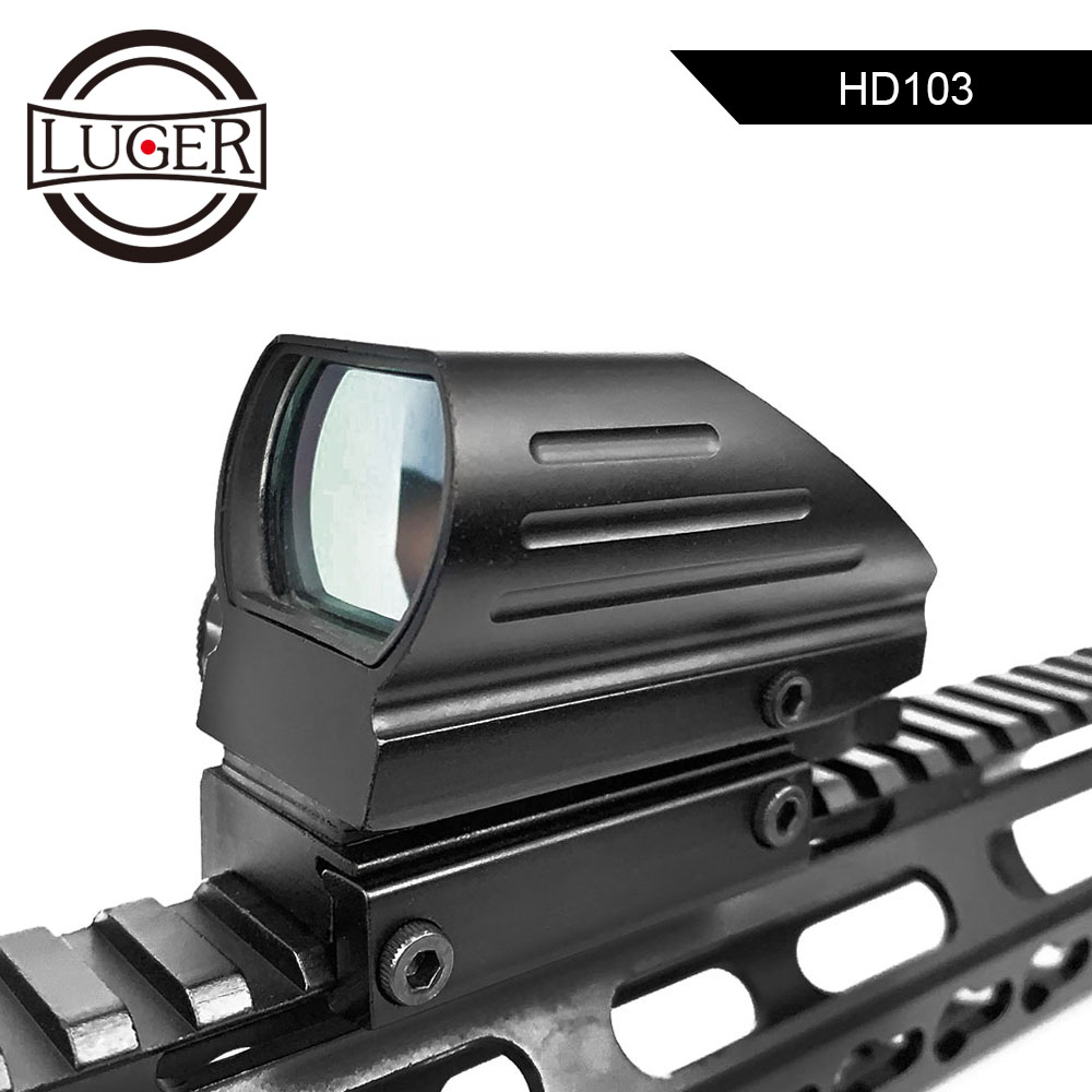 LUGER Tactical Reflex Red Green Laser 4 Reticle Holographic Projected Dot Sight Scope Airgun Sight Hunting 11mm/20mm Rail Mount
