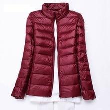 Plus Size 5XL 6XL 7XL Winter Warm Jackets Women Autumn Outwear Brand White Duck Down Coat Long Sleeve Slim Female Portabl Jacket