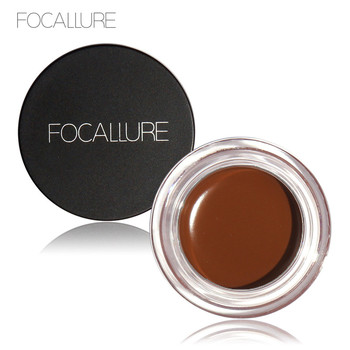 Professional Eyebrow Waterproof High Brow 5 Color Eye Makeup Tool Kit Pigment Black Brown Henna Gel With Brow Brush FOCALLURE