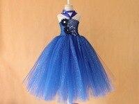 New Style Light Blue Sequins Tutu Dress For Baby Girls Tutu Dress With Headband Birthday Sets
