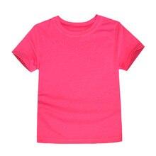 Kids Basic Cotton Crew Neck T-shirt