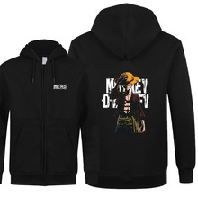 One Piece Fashion Black Hoodie