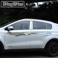 FIT FOR KIA SPORTAGE 2016 2017 KX5 WINDOW CHROME PILLAR POST POSTS COVER TRIM MOLDING BEZEL GARNISH ACCENT STAINLESS STEEL
