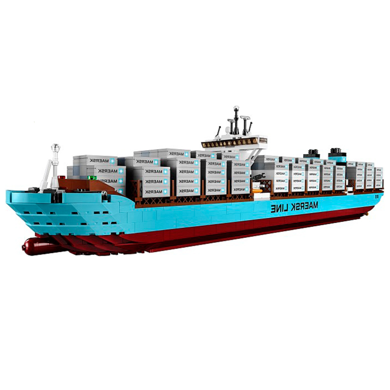 Lepin 22002  Ships Model Building Bricks Blocks Toys Gift Toys for Children Boy educational 10241 lepin 22002 1518pcs the maersk cargo container ship set educational building blocks bricks model toys compatible legoed 10241