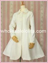 Hot Sale Milk White Wool Hooded Sweet Lolita Coat