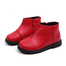 NEW Autumn Winter Unisex leather Boots kid girl boots Childrens ankle Martin for boy 5 6 7 8 9 9.5 10 11 11.5 12.5