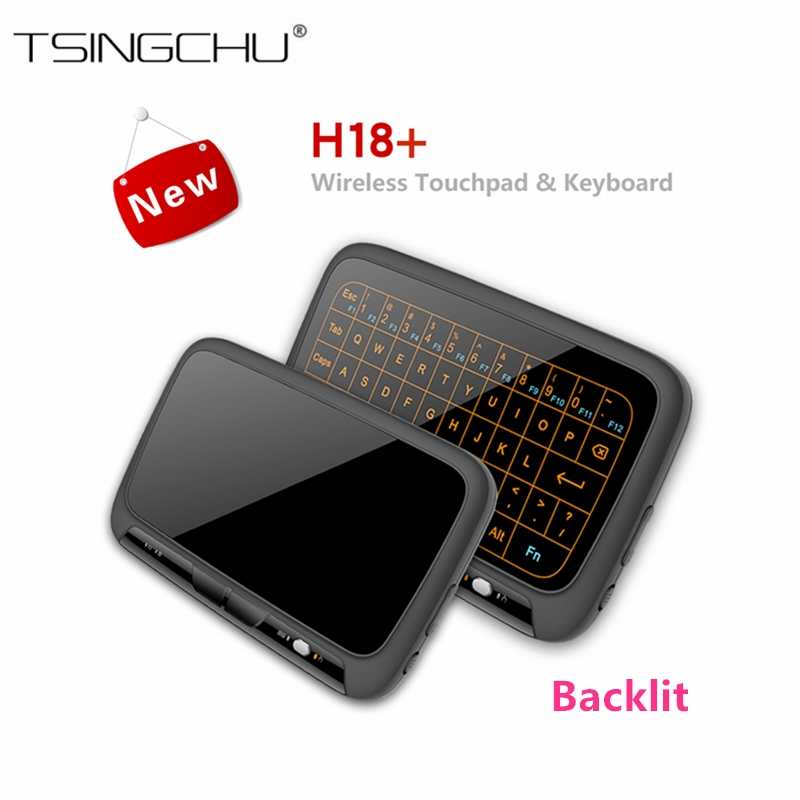 TSINGO H18 Whole Panel Touchpad Air Mouse and keyboard ,H18 Plus 2.4GHz Backlit Wireless Mini Remote Control For Smart TV Box/PC neworig keyboard bezel palmrest cover lenovo thinkpad t540p w54 touchpad without fingerprint 04x5544