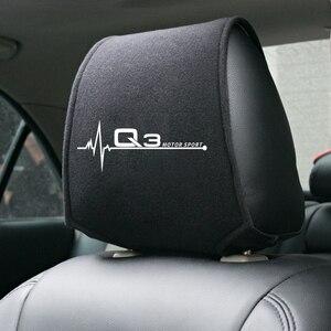 Image 4 - 1PCS Hot car poggiatesta copertura fit for Audi A4 B5 B6 B7 B8 B9 A3 8P 8V 8L A5 A6 C6 C5 C7 4F A1 A7 A8 Q2 Q3 Q5 Q7 RS3 RS4 RS5 RS6 TT