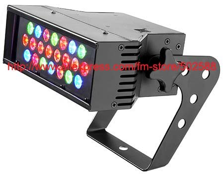 Wholesale 21*3w rgb or rgbw led stage wall washer effect disco dj sound washer lights 10pcs/Lot carton package free shipping to north america rgb 3in1 super thin led wall washer 24x3w dc 24v 4wires 10pcs lot used for commercial decoration