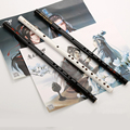 Chinese Traditional Bamboo Flute E F G Vertical Flute Clarinet Student Musical Instrument White Black Color with Unique Tassels