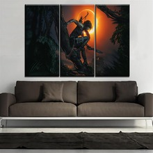 Games Pictures Wall Art Decorative Modern On Canvas Printing Type 3 Pieces Shadow of the Tomb Raider Painting Home Decorative цена и фото