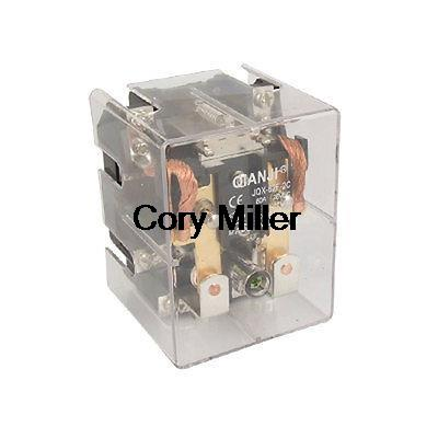 DC 12V Coil 80A DPDT General Purpose High Power Relay JQX-62F-2C jqx 62f 120a coil high power relay ac 220v