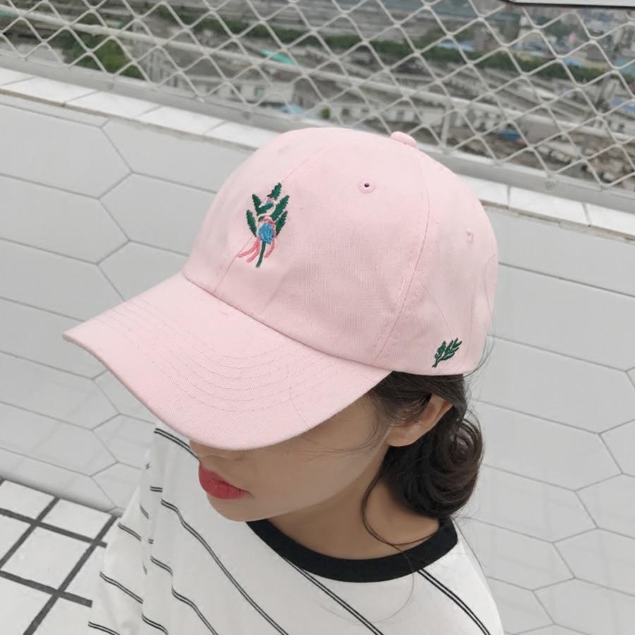 Fashion Flamingo Baseball Cap Women Snapback Couple Baseball Cap Cotton Black Brand Baseball Hat Girl Summer Accessories WH126