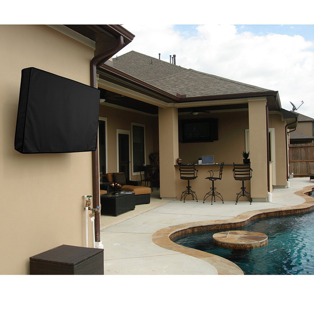 Outdoor Tv Dust Cover Black Screen Lcd Water Resistant Protect Bag 24 32 38 42 48 52 55 60 Inch Cov