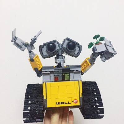 2018 New Idea Robot WALL E Building Set Kits Toys Educational Bricks Blocks Bringuedos for Children DIY Gift compatible lepins educational toys kids models building kits blocks diy bricks set 5 5cm plant tree figure for children 6 years old toys learning