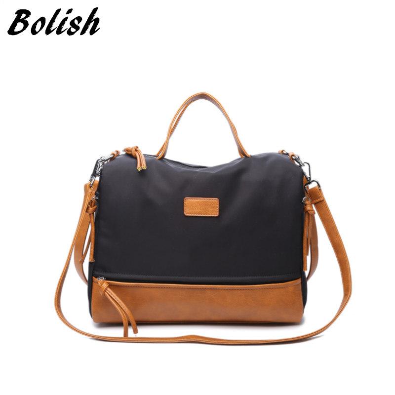 Prix pour Bolish haute qualité oxford haut-poignée sacs de mode sac de moto grand sac d'épaule simple, sac de messager des femmes