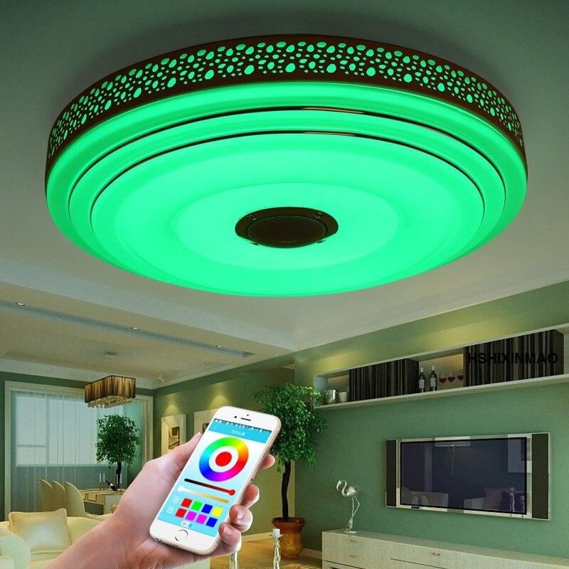 Nouveaux plafonniers de LED Dimmable 36 W de rvb avec l'appareil d'éclairage de lampes de plafond moderne à LEDs de Bluetooth et de musique - 2