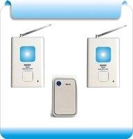 Gratis verzending VNA-X810 Draadloze deurbel huishoudelijke batterij heeft deze/waterdicht (1 knop en 2 bell)