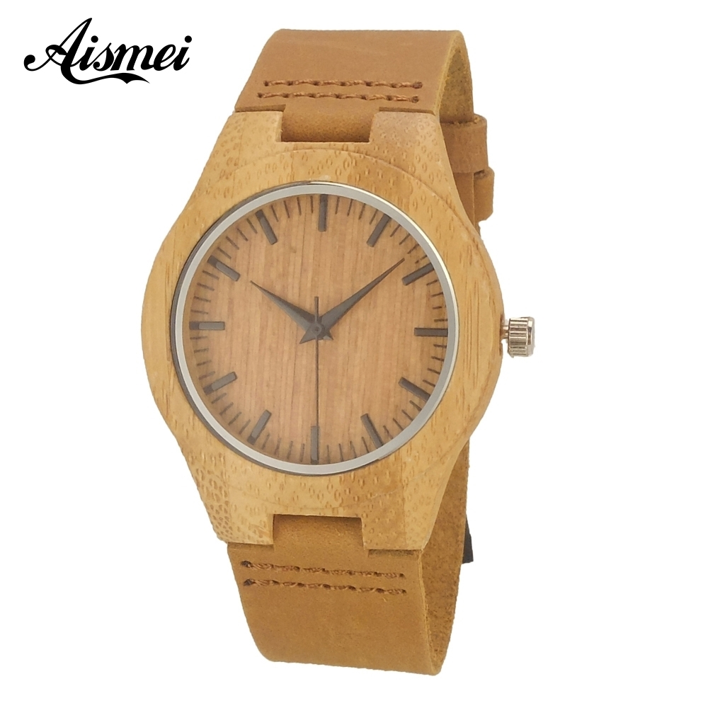 Luxury brand Women wood watches 2018 fashion casual elegant Wooden quartz wrist watch With Genuine Leather for gift new world map mens genuine leather quartz watch wood bamboo male wrist watch luxury brand reloj de madera genuine with gift box