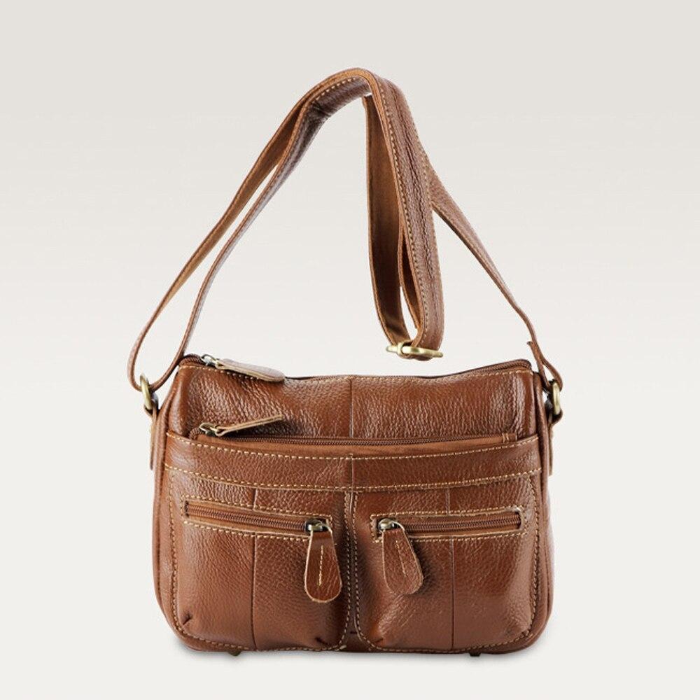 ФОТО Genuine Leather - Women handbag shoulder oblique cross body bag head layer cowhide women messenger bags