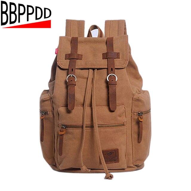 092d948043 BBPPDD 2018 New Brand Fashion Men s Backpack Leisure Retro Canvas Bag Women  Backpacks For Teenage Girls School Bag