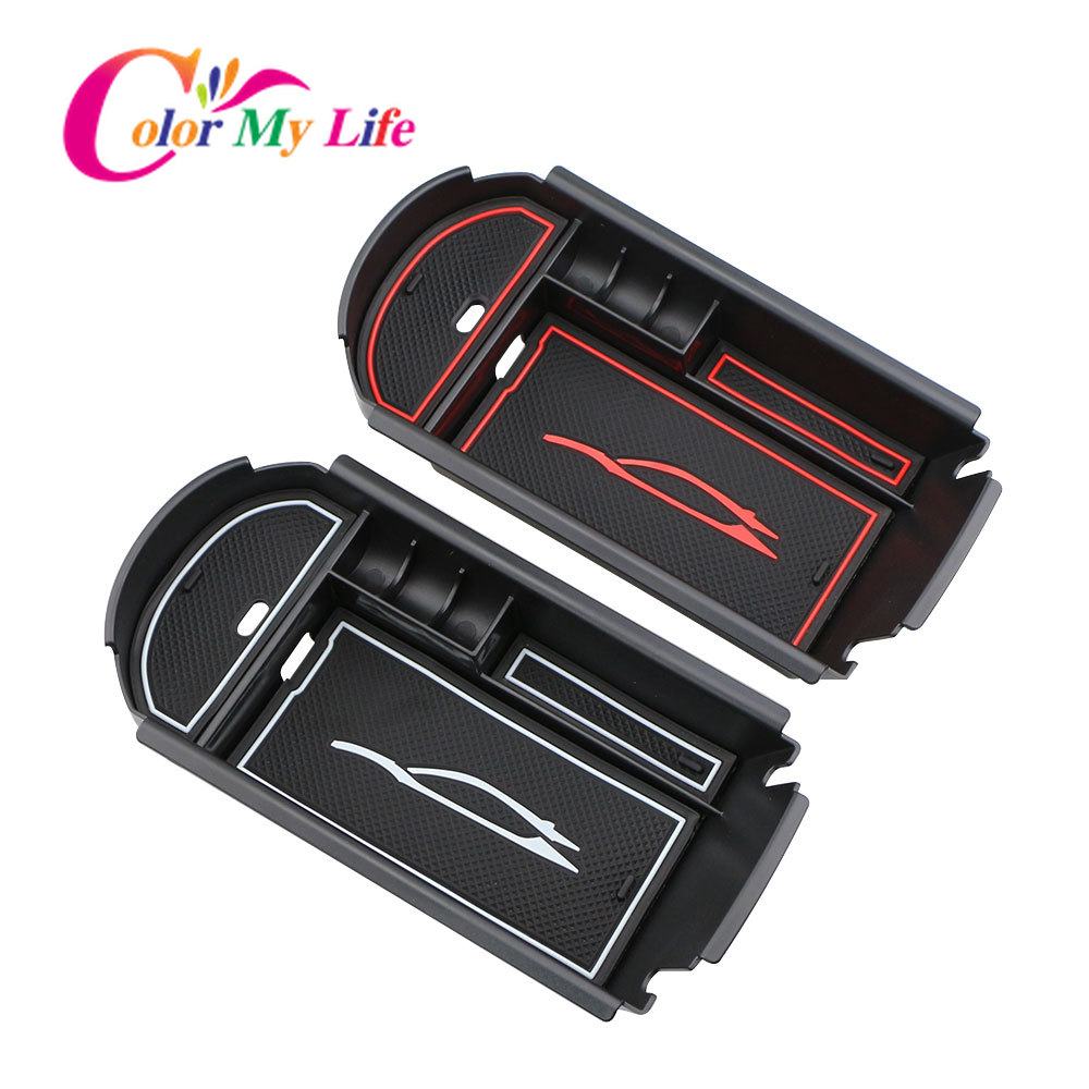 Color My Life Car Armrest Box Storage Center Console Organizer Container Holder Box for Toyota C-HR CHR 2016 - 2018 Accessories