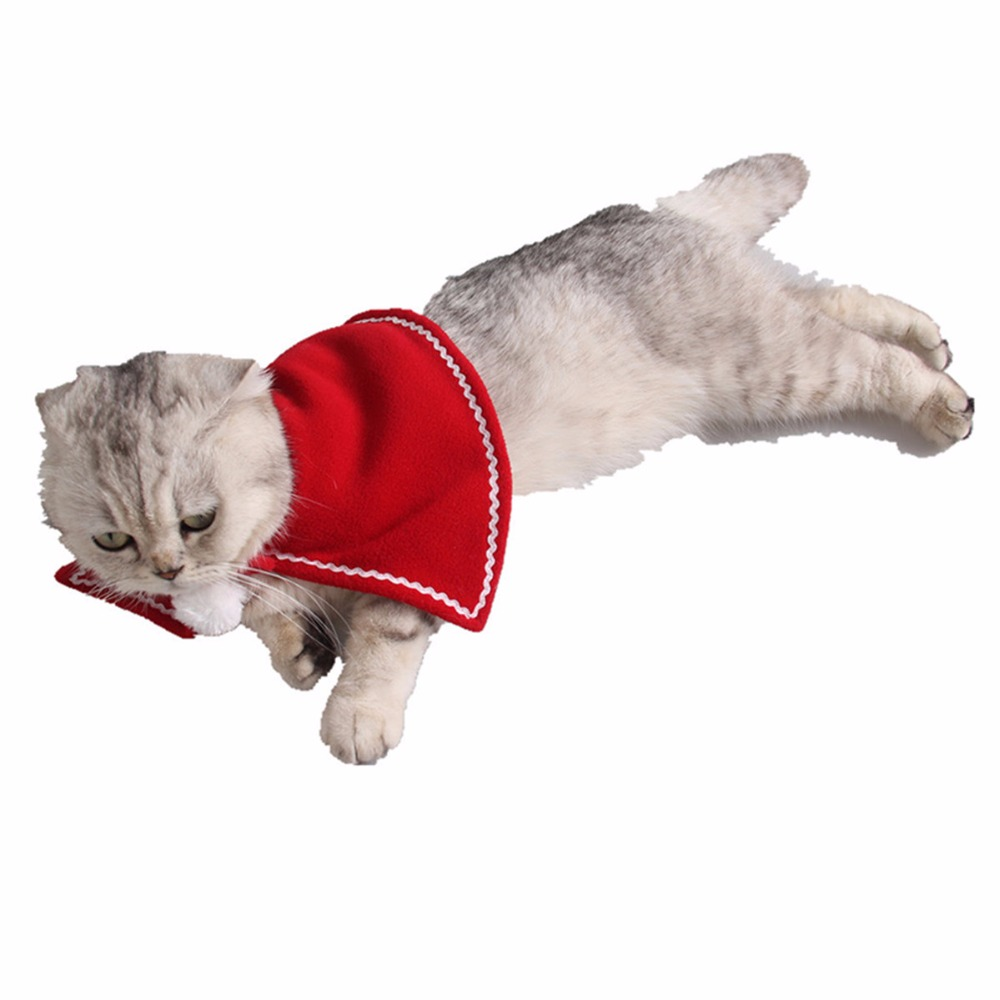 Cat Clothing New Fashion Red Cute Pet Cat Clothing Christmas Party Puppy Cat Clothes Costumes Lovely Cloaks Mantle With Buckhorn Set Suit For Cats Pet Products