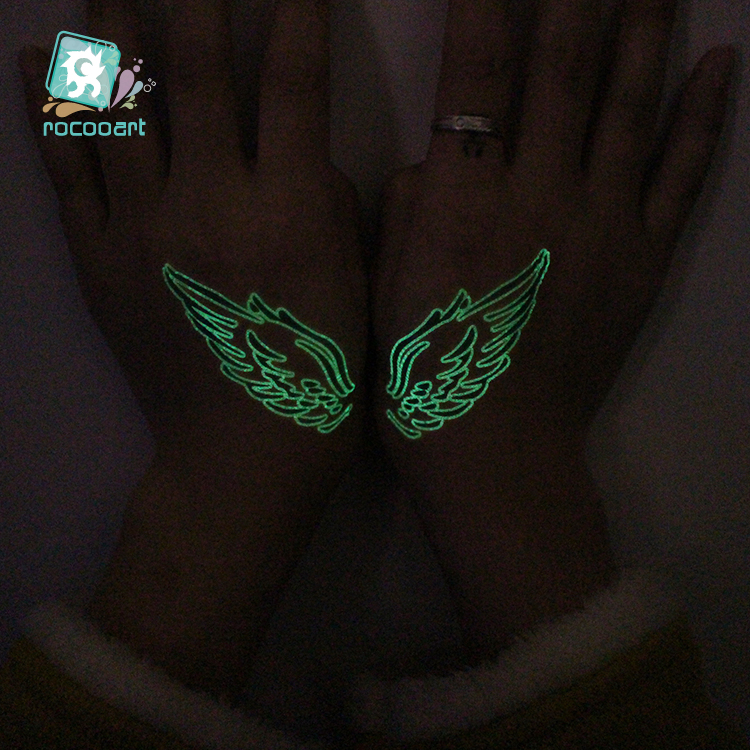 Butterfly Luminous Fake Tattoo Glowing in Dark