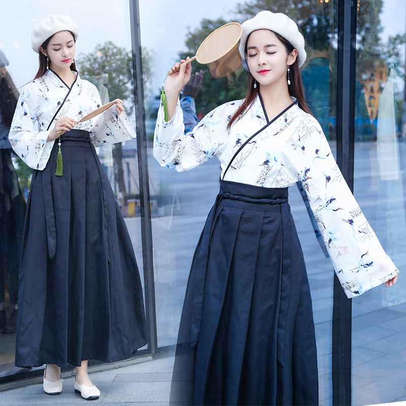 Hanfu Women Crane Dance Costume Chinese Traditional Stage Wear For Singers Festival Outfit Oriental Clothes Folk Dress DC1836
