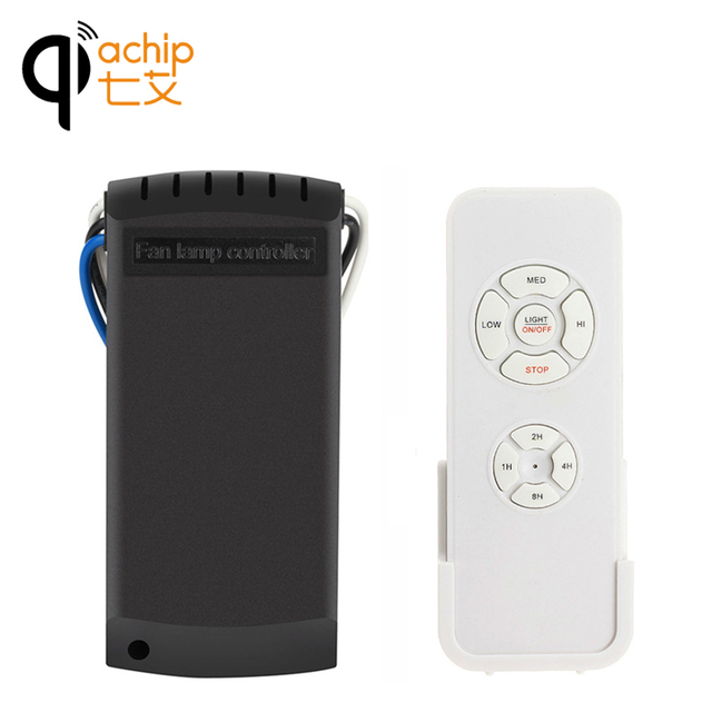Qiachip Universal Ceiling Fan Light Lamp Timing Sd Controller Switch Wireless Remote Control Kit Transmitter And