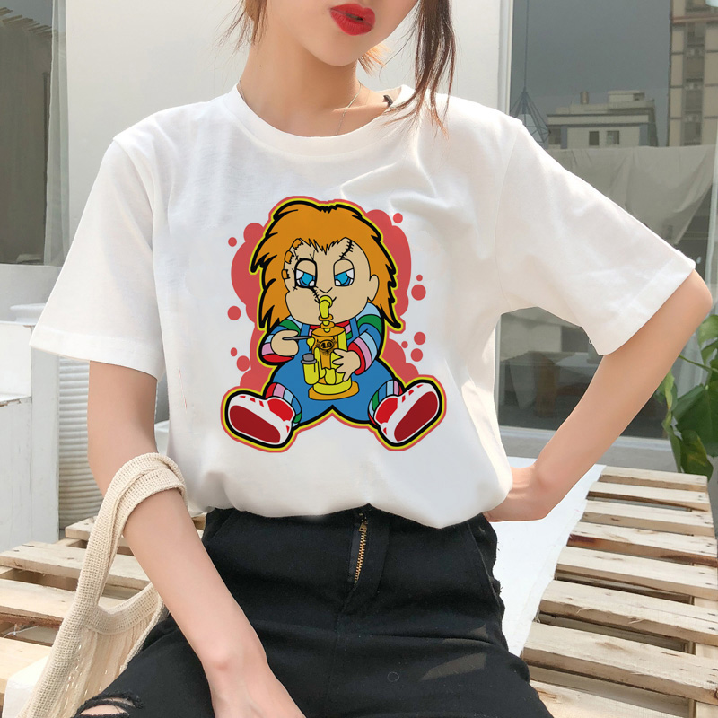 chucky t shirt Horror High cool women top Quality new streetwear tee t-shirt fashion ulzzang female shirts femme new tshirt 13