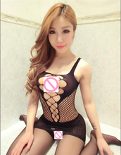 Sexy Underwear Female Lingerie Sling Strapless Fishnet Ladies Lace Transparent Conjoined Dress Suit Erotic Babydolls Sleepwear