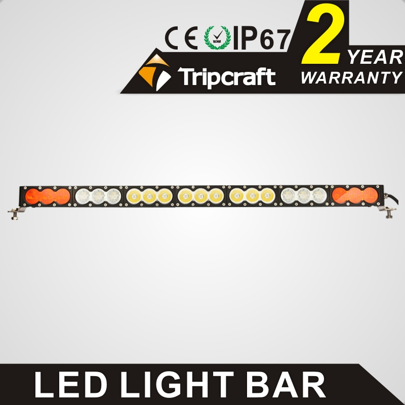 Tripcraft 38 inch 210w 12 volt led ramp single row amber 17850 lumen led light bar For Off Road Truck Tractor SUV ATV Combo beam truck led ramp 36w led light bar with ip67 waterproof rate