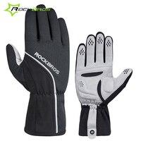 Rockbros Cycling Gloves Winter Fleece Thermal Bicycle Bike Gloves Shockproof SBR Sponge Pad Sport MTB Gloves