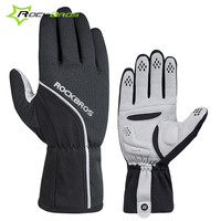 Rockbros Cycling Gloves Winter Fleece Thermal Bicycle Bike Gloves Shockproof SBR Sponge Pad Sport MTB Gloves