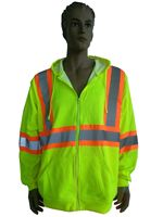 High Vis Fleece Visibility Safety Jacket Hi Viz Work Coat Jumper Yellow