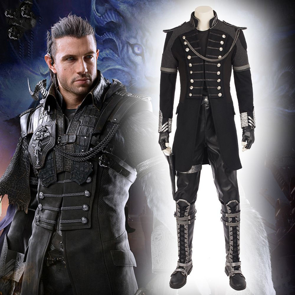 Final Fantasy XV Kingsglaive Nyx Ulric Cosplay Costume Halloween Costume for Adult Men Cosplay Nyx Jacket Costume  Suit