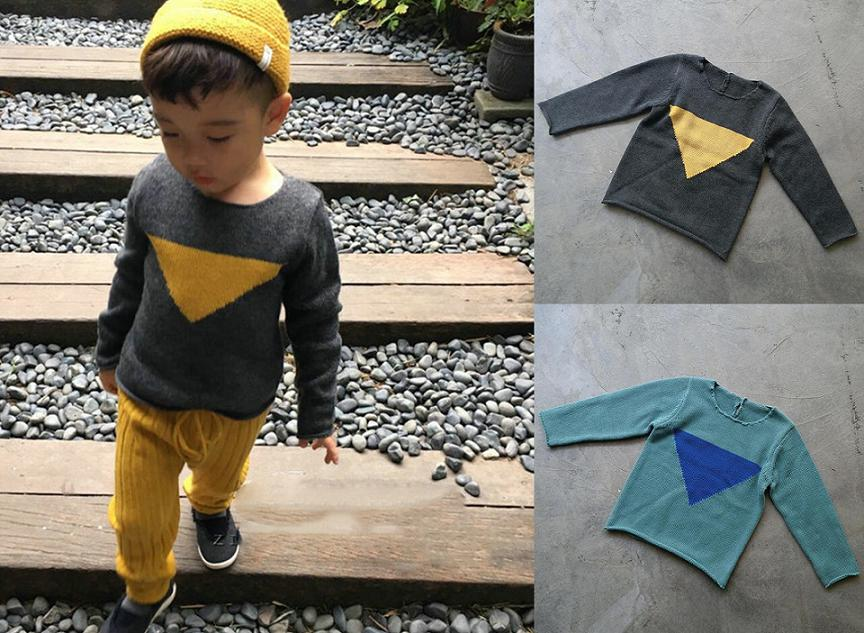 INS Kids Knitted Sweaters O-Neck Spring Autumn Boys and Girls Long Sleeve Casual Sweater Fashion Korean Style Children Clothes цена