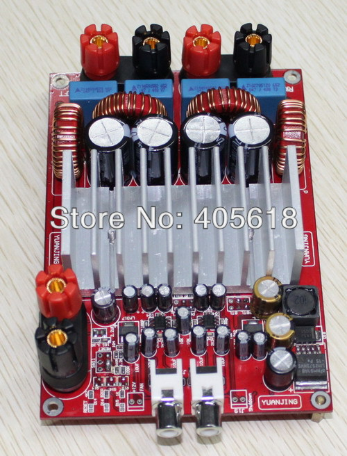 TAS5630 class D Digital Amplifier 300w*300w 600w OPA1632DR ADCs 4ohm 100dB DC50V tas5630 amplifier class d board high power finished boards mono 600w for subwoofer or full range diy free shipping