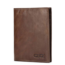Leather Mens Wallet Passport Holder Coin Purse Retro Boarding Card