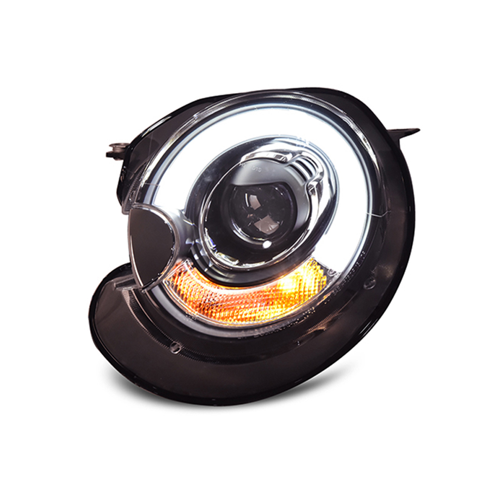 2pcs LED DRL Angel Lens Double Beam HID Xenon Headlamp Headlight Assembly For Mini Cooper R56