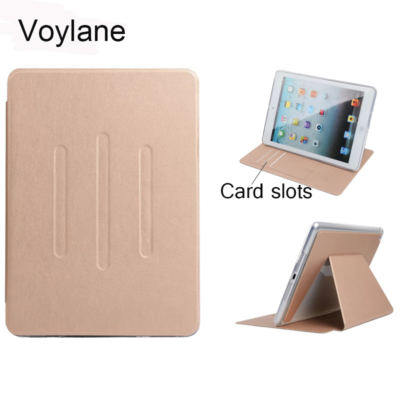 Voylane Case for iPad Air  PU Leather Front Cover+Soft TPU Bumper Edge Stand color Auto Sleep Smart case for iPad Air for iPad 5 tpu case cover for ipad air