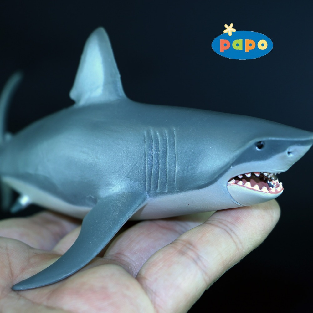 2008 PAPO Simulated sea life TOYS 1:47 shark Model About 17cm Ocean Park toys