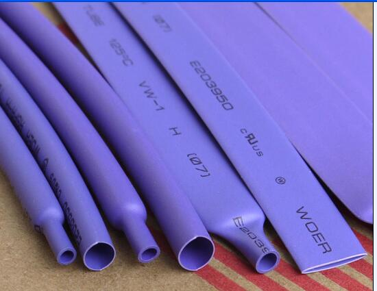 5M/Lot Purple - 2MM 4MM 6MM 8MM 10MM 12MM Assortment Ratio 2:1 Polyolefin Heat Shrink Tube Tubing Sleeving Cable Sleeves недорого