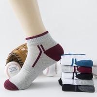 Hot Sales Fashion 100 Cotton Men S Socks Slipper Comfortable Cotton 5PCS LOT Socks Stripped Man