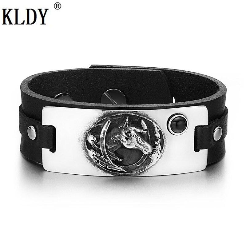 KLDY Men Wicca Leather Bracelet Bagua Horse Tree of Life Pattern Bracelet Raphael Enochian Amulet Men's Angel Charm Customizable цена 2017