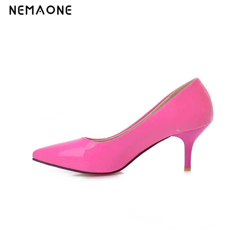 NEMAONE 2017 new fashion Heels Shoes Women Pointed Toe Sexy High Heels Ladies Shoes Party Pumps Stiletto nemaone new sexy high heels sandals