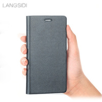 Genuine Leather phone case For Xiaomi Pocophone F1 Mi 8 A1 A2 Lite For Redmi Note 5 Plus 4X 5A diamond Pattern clamshell shell
